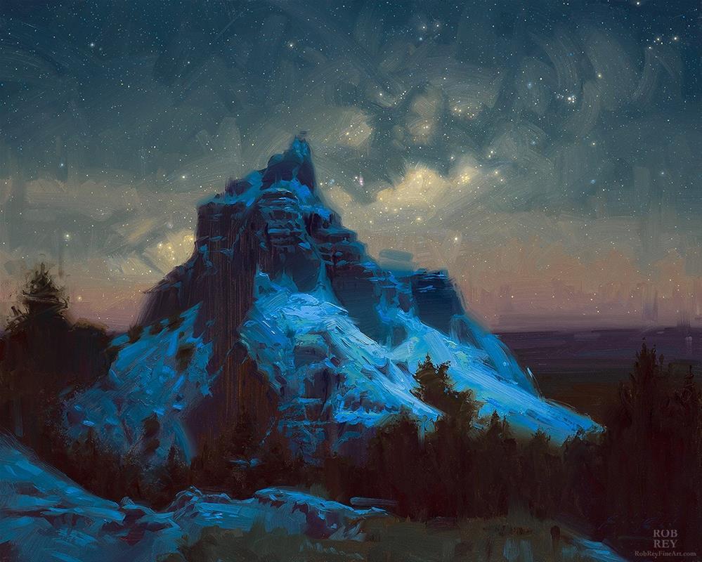 """""""Good Sky Over the Badlands"""" original fine art by Rob  Rey"""