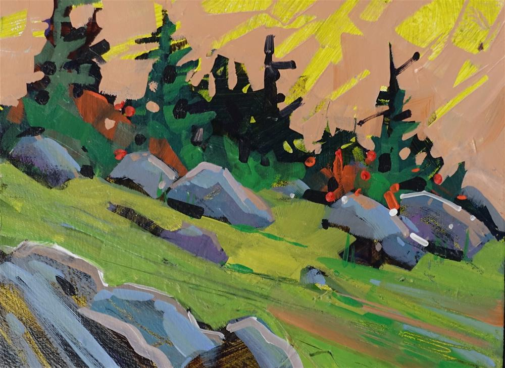 """Mountain Morning"" original fine art by Brian Buckrell"