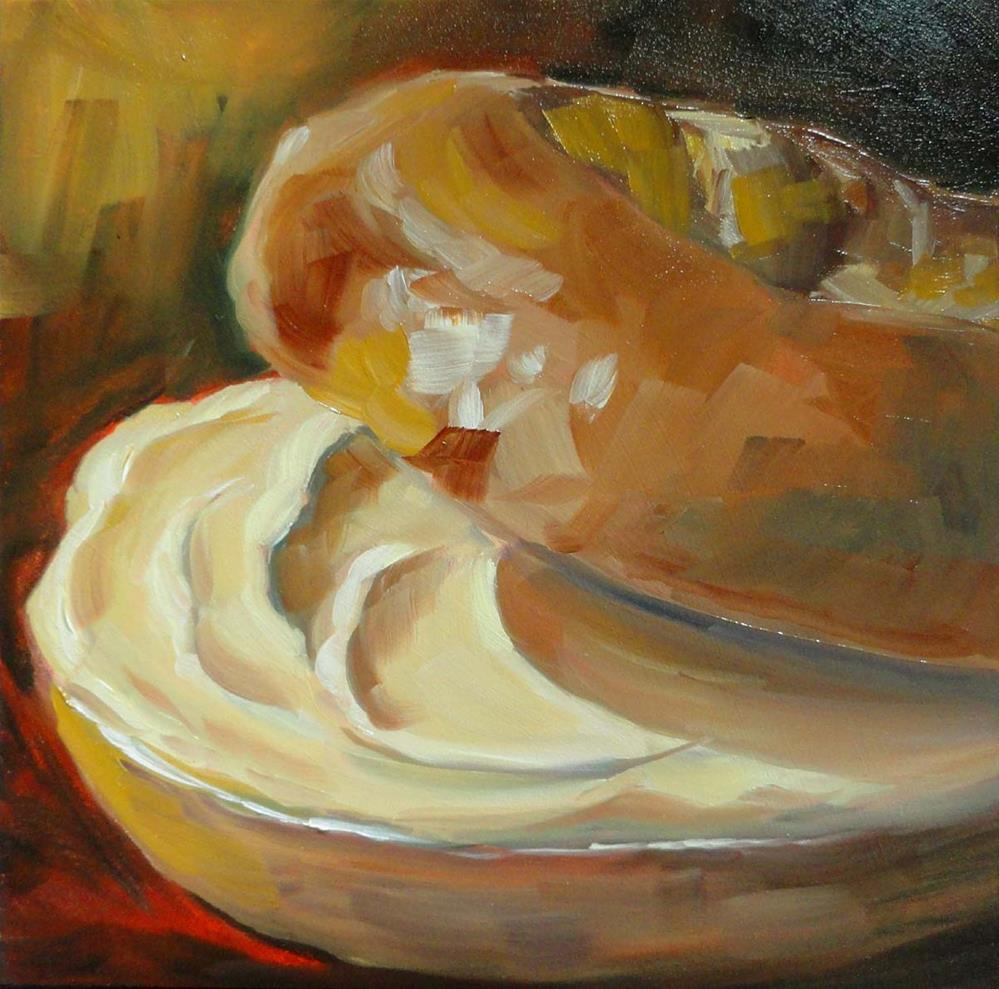 """Bagel & Creamcheese"" original fine art by Cietha Wilson"