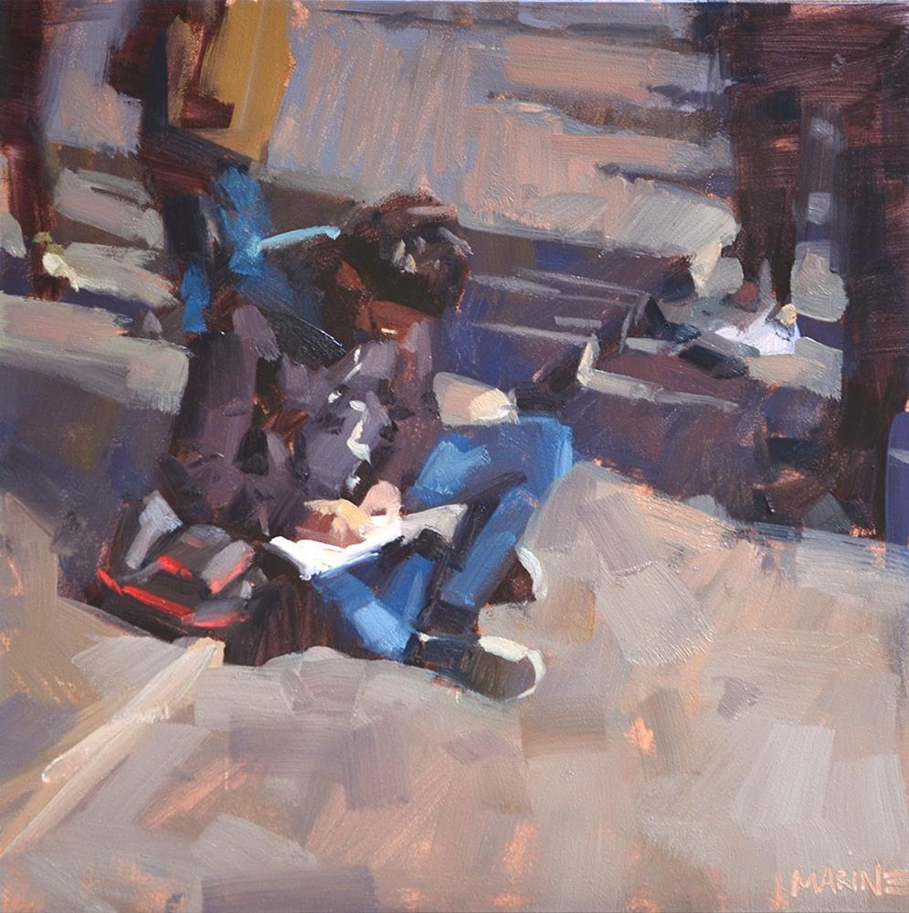 """Taking Notes"" original fine art by Carol Marine"