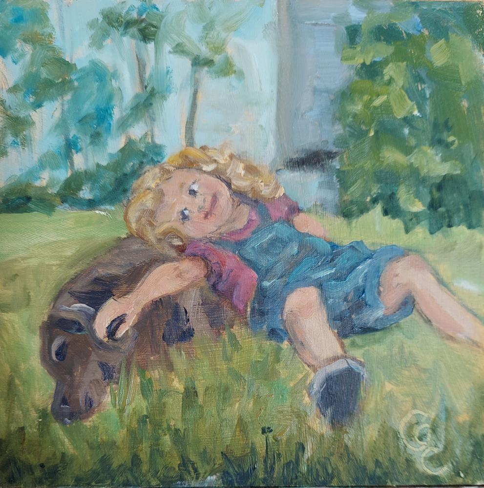 """""""Girls Best Friend"""" original fine art by Catherine Crookston"""
