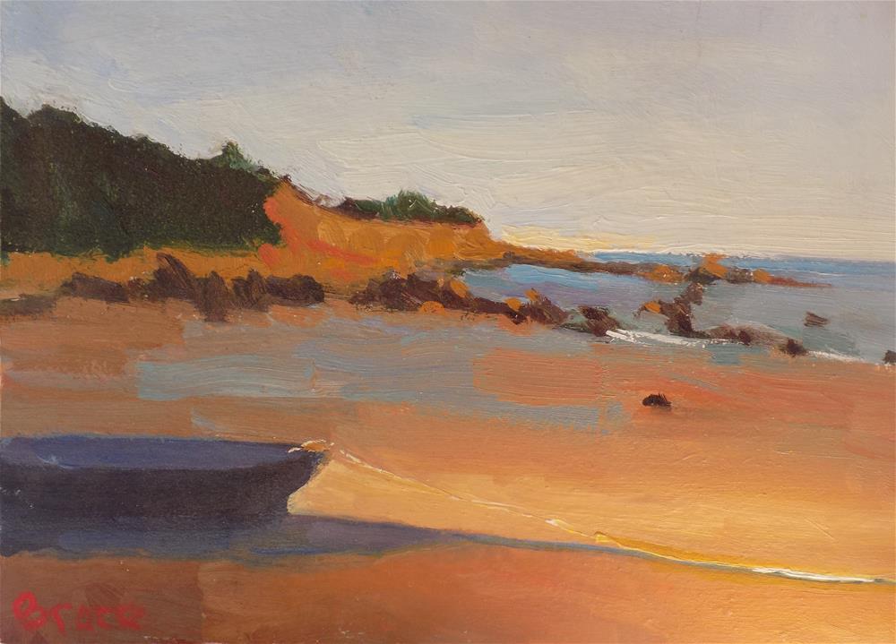 """Manomet Low Tide"" original fine art by Rita Brace"