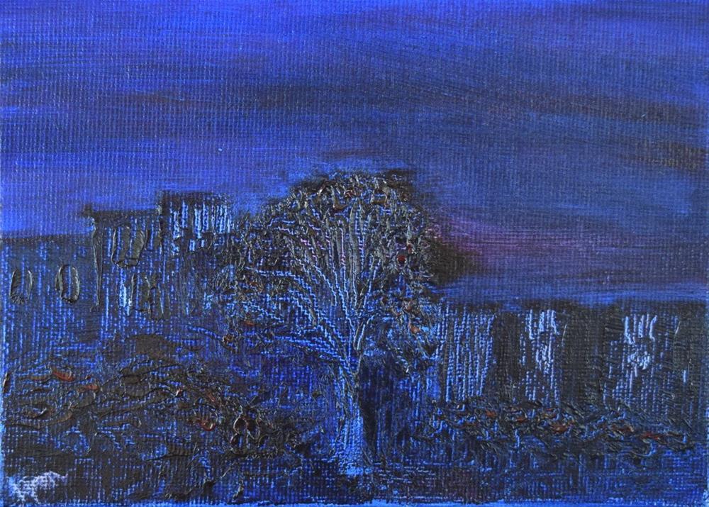 """Last Night, Over By the Maple Tree"" original fine art by Tisha Mark"