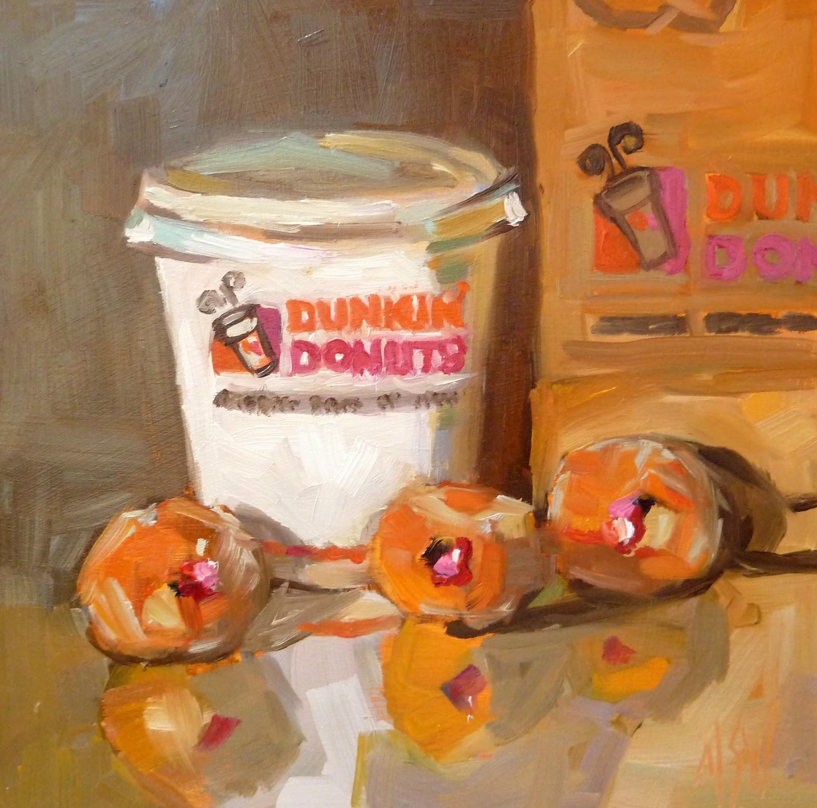 """""""Munchkins 6x6 oil on gessoboard"""" original fine art by Mary Sheehan Winn"""