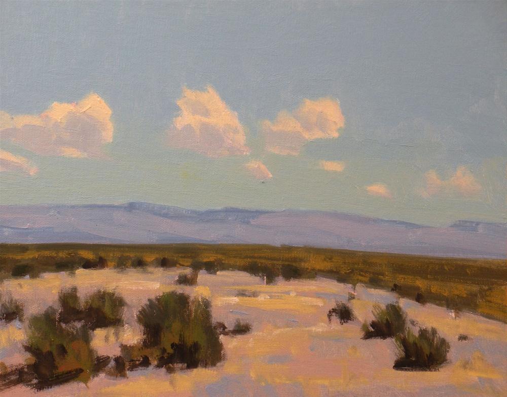 """Desert Flats"" original fine art by David Forks"