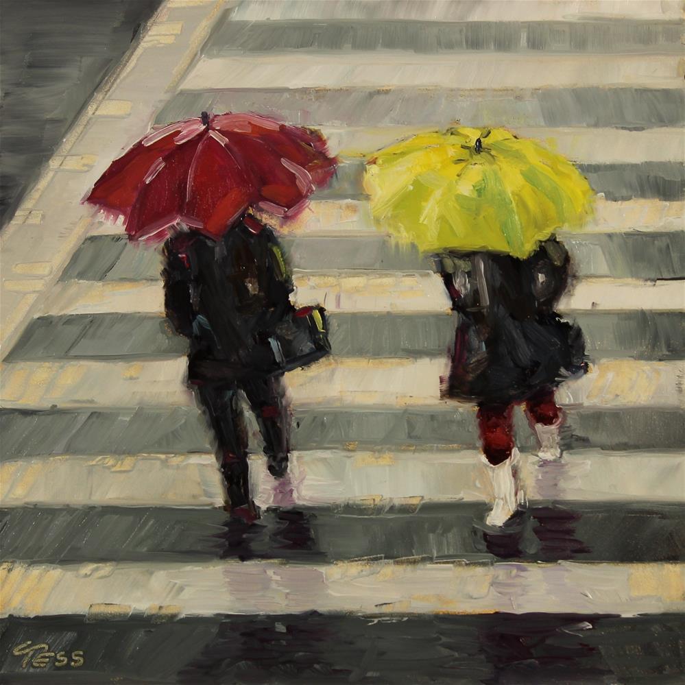 """Early Morning Rain- Gordon Lightfoot"" original fine art by Tess Lehman"