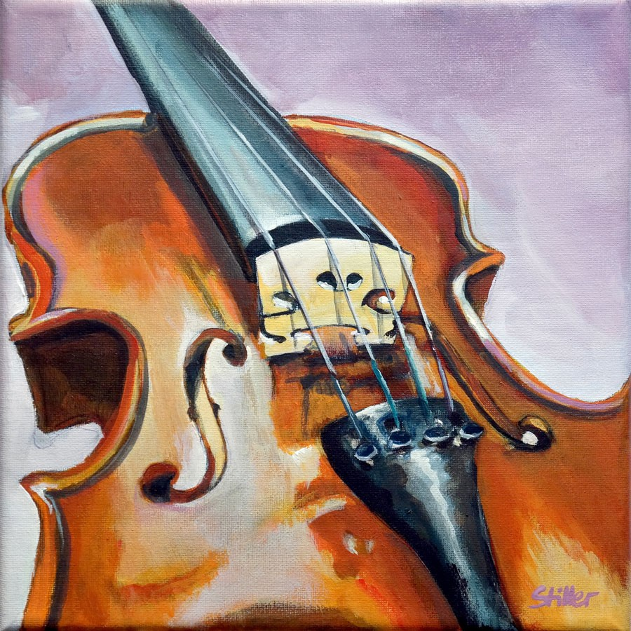 """2195 Violin (Painting of the week #14)"" original fine art by Dietmar Stiller"