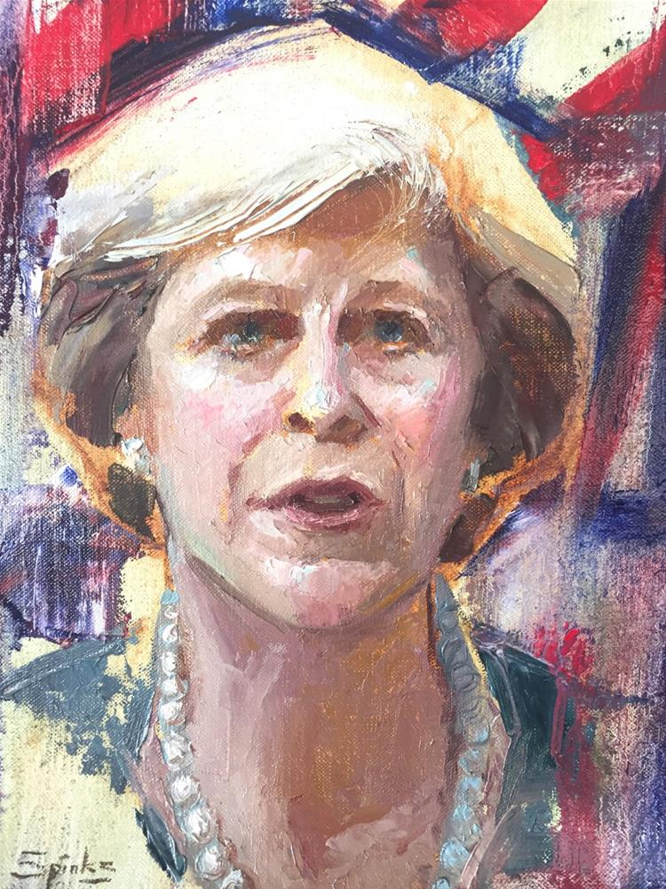 """""""Brexit Means Brexit - Theresa May"""" original fine art by Johanna Spinks"""