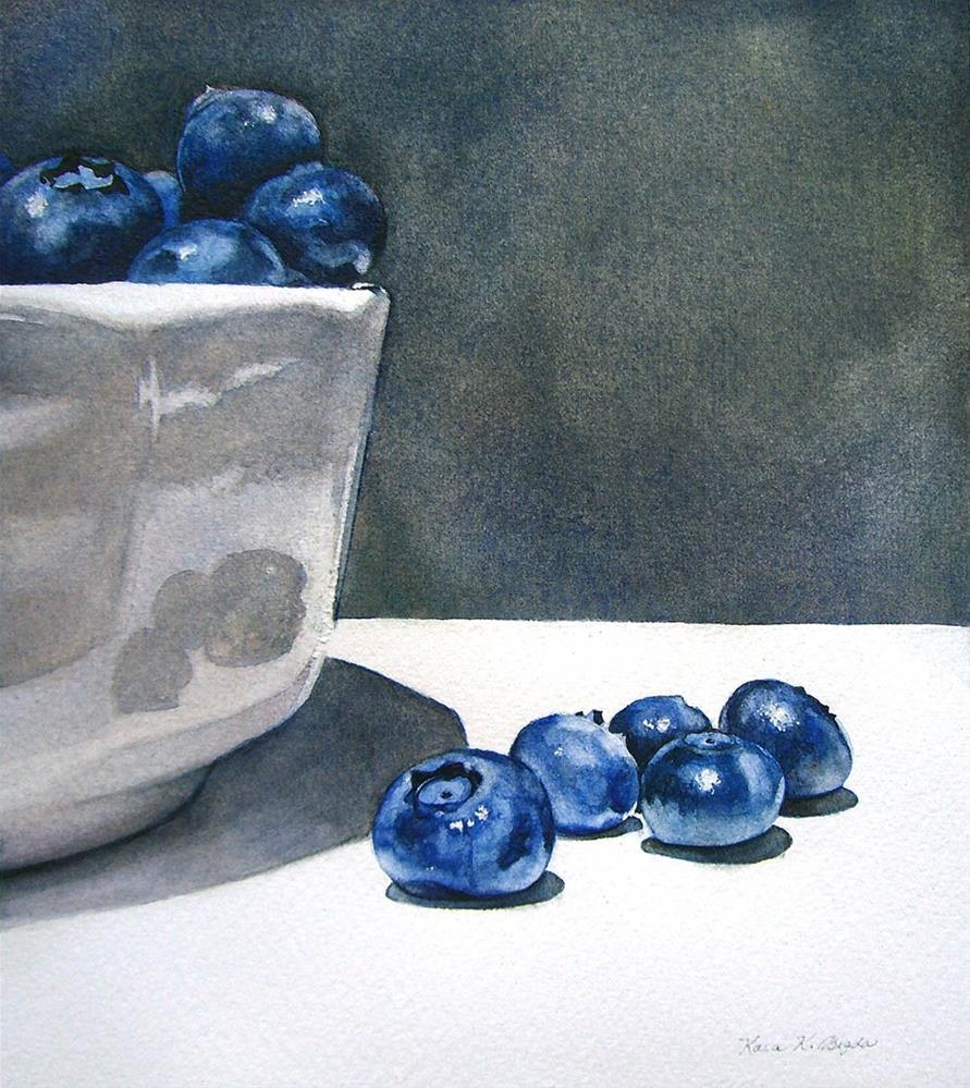 """Blueberry Still Life"" original fine art by Kara K. Bigda"