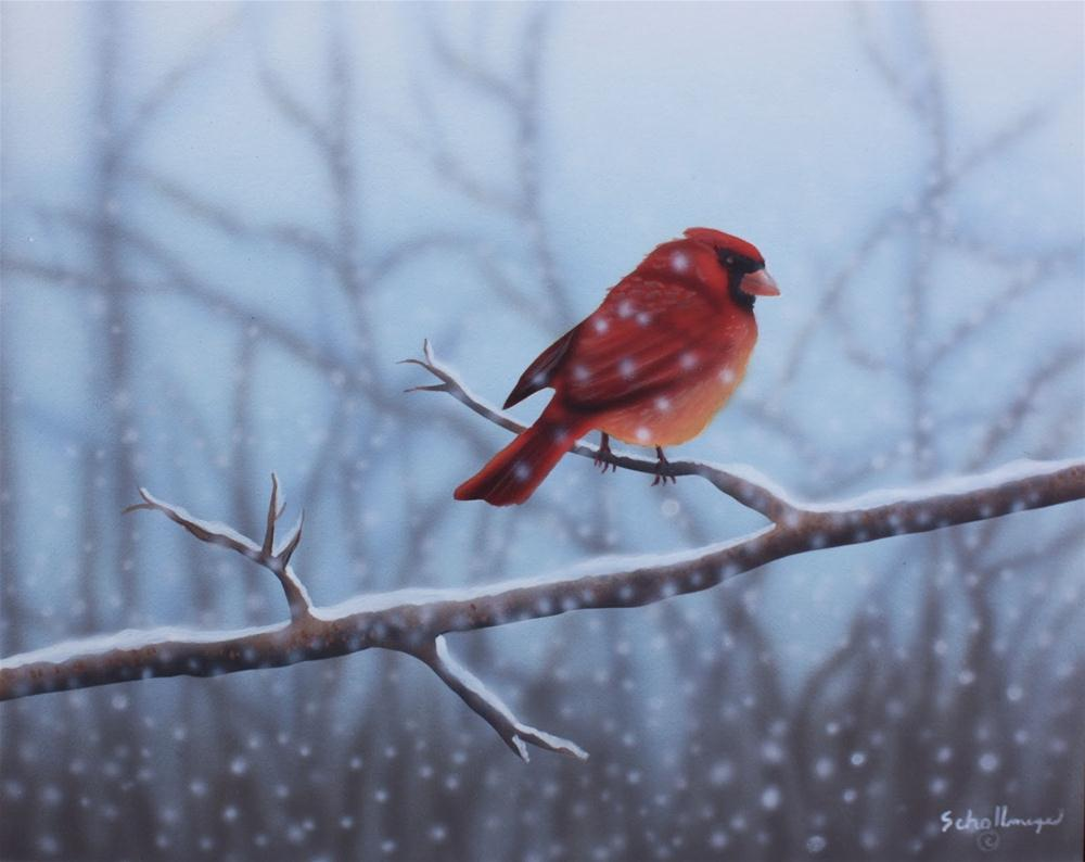 """""""Lost in the Storm"""" original fine art by Fred Schollmeyer"""