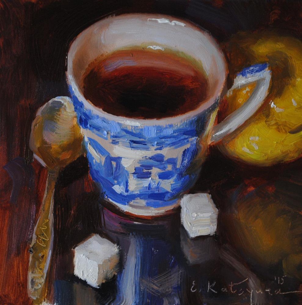 """""""Citrus Tea"""" original fine art by Elena Katsyura"""