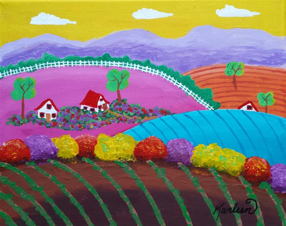"""A Spring Day"" original fine art by Karleen Kareem"