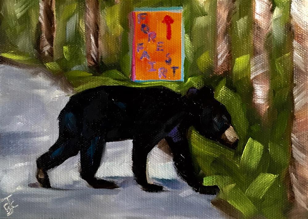 """Bypassing Forest Fair"" original fine art by Bobbie Cook"