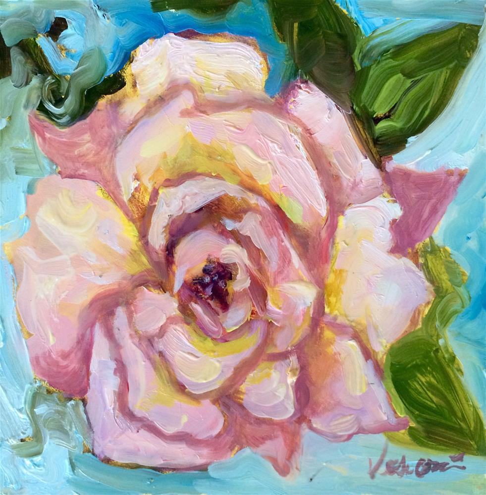 """Rose 3"" original fine art by Valerie Vescovi"