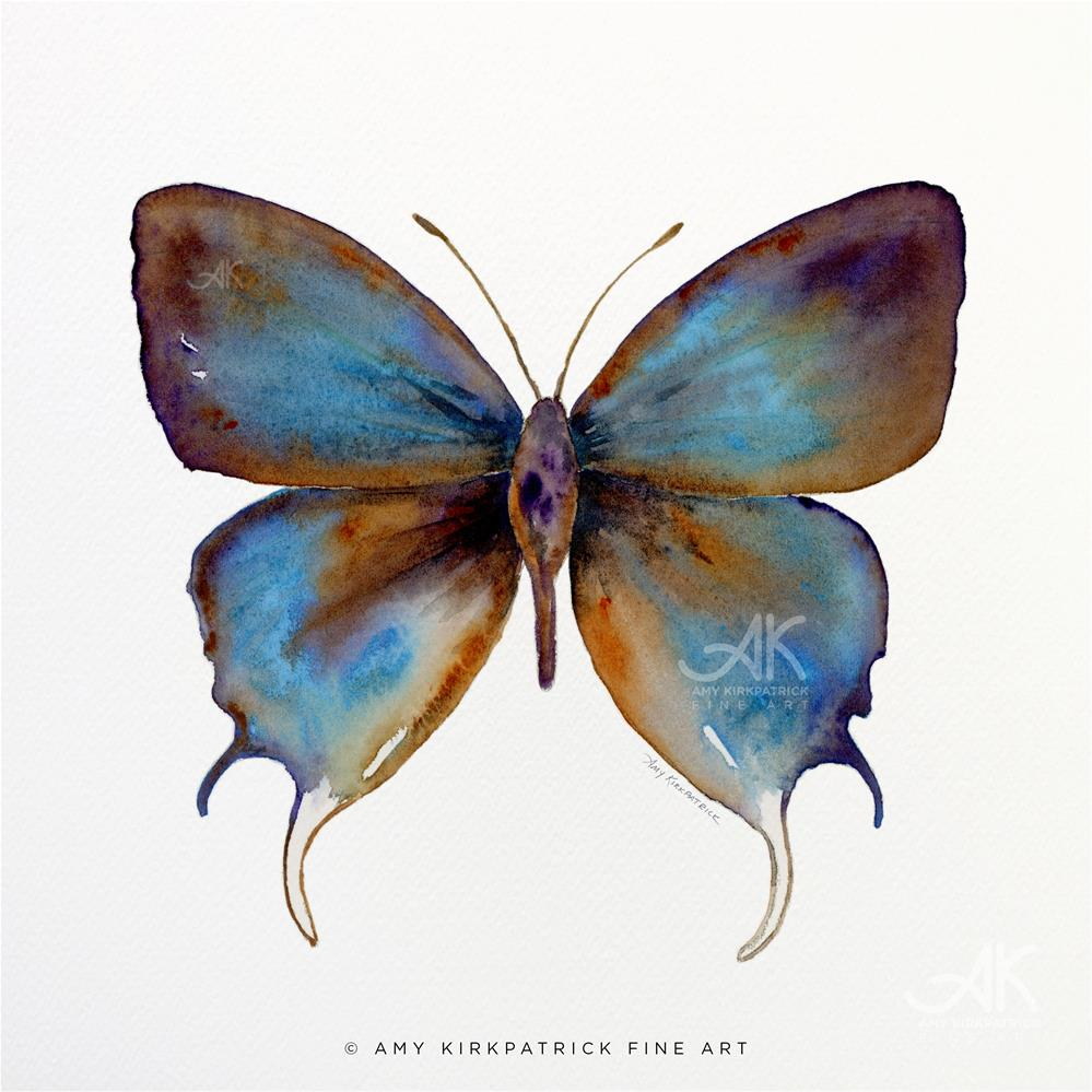 """""""#48 Manto Hypoleuca Butterfly #0358"""" original fine art by Amy Kirkpatrick"""