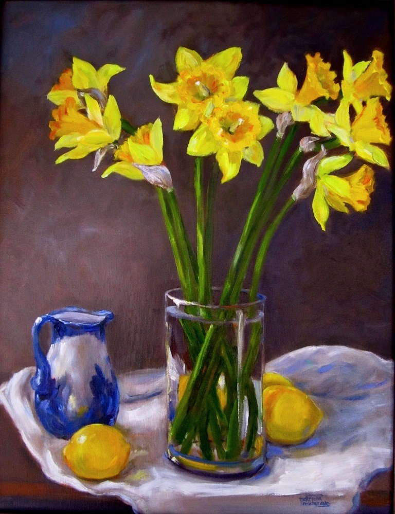 """Still Life with Daffodils"" original fine art by Patricia Musgrave"