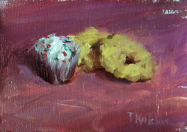 """""""cupcake"""" original fine art by Taisia Kuklina"""