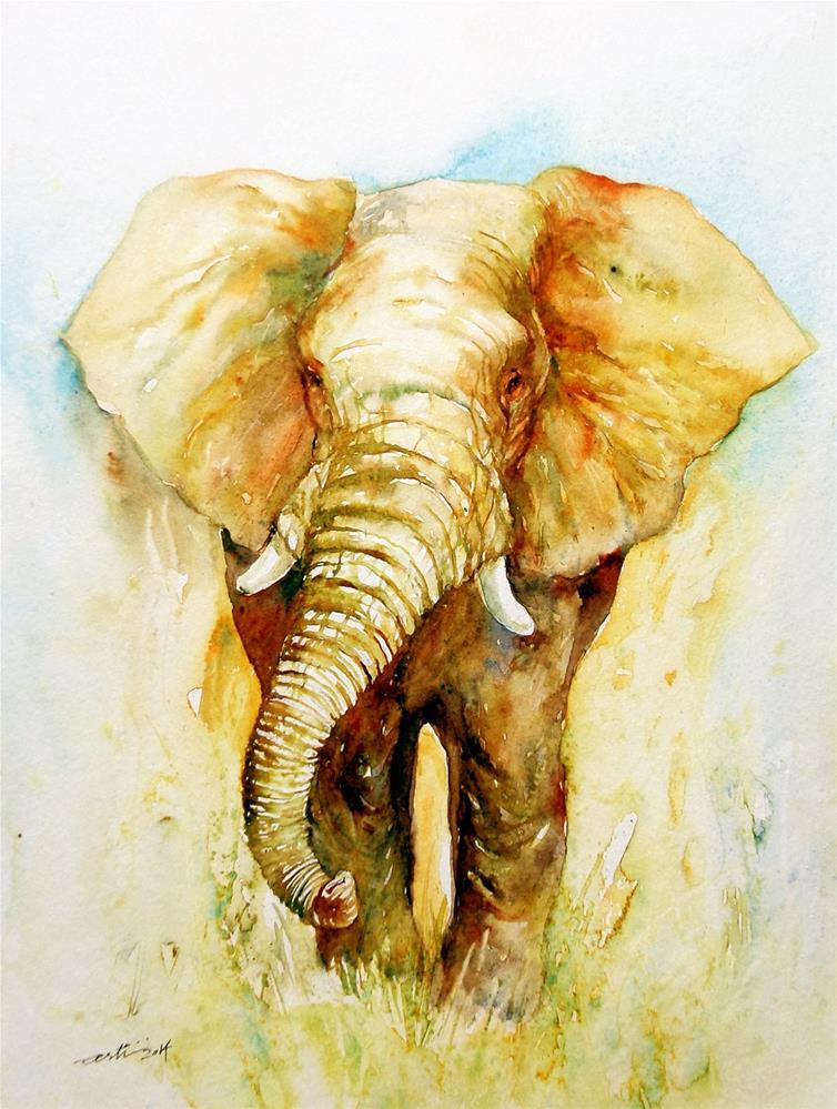 """Valor"" original fine art by Arti Chauhan"