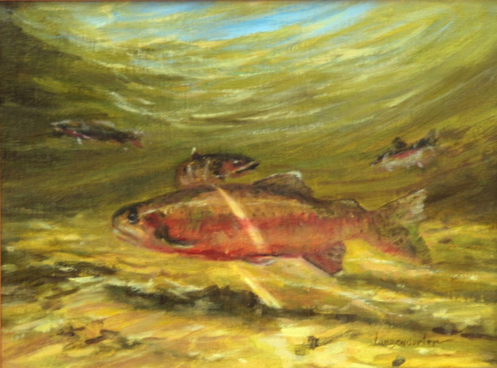 """RIVER RESIDENT"" original fine art by Dj Lanzendorfer"