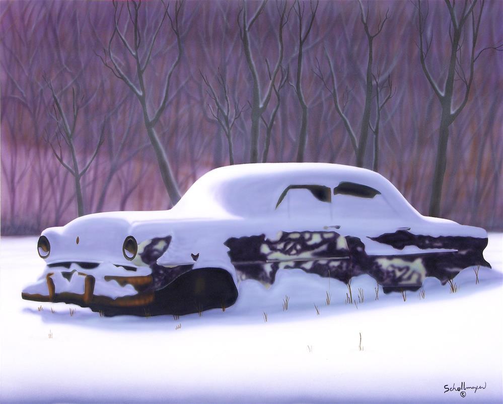 """""""Snowed Under"""" original fine art by Fred Schollmeyer"""