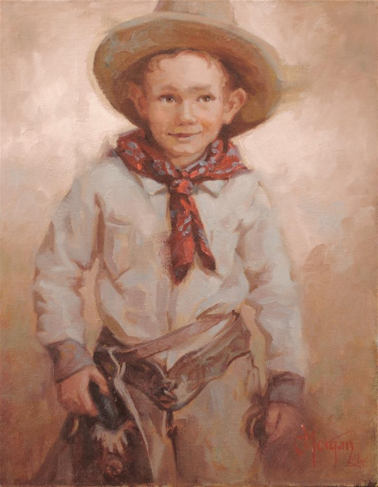 """Li'l Cowpoke Memories"" original fine art by Cecile W. Morgan"