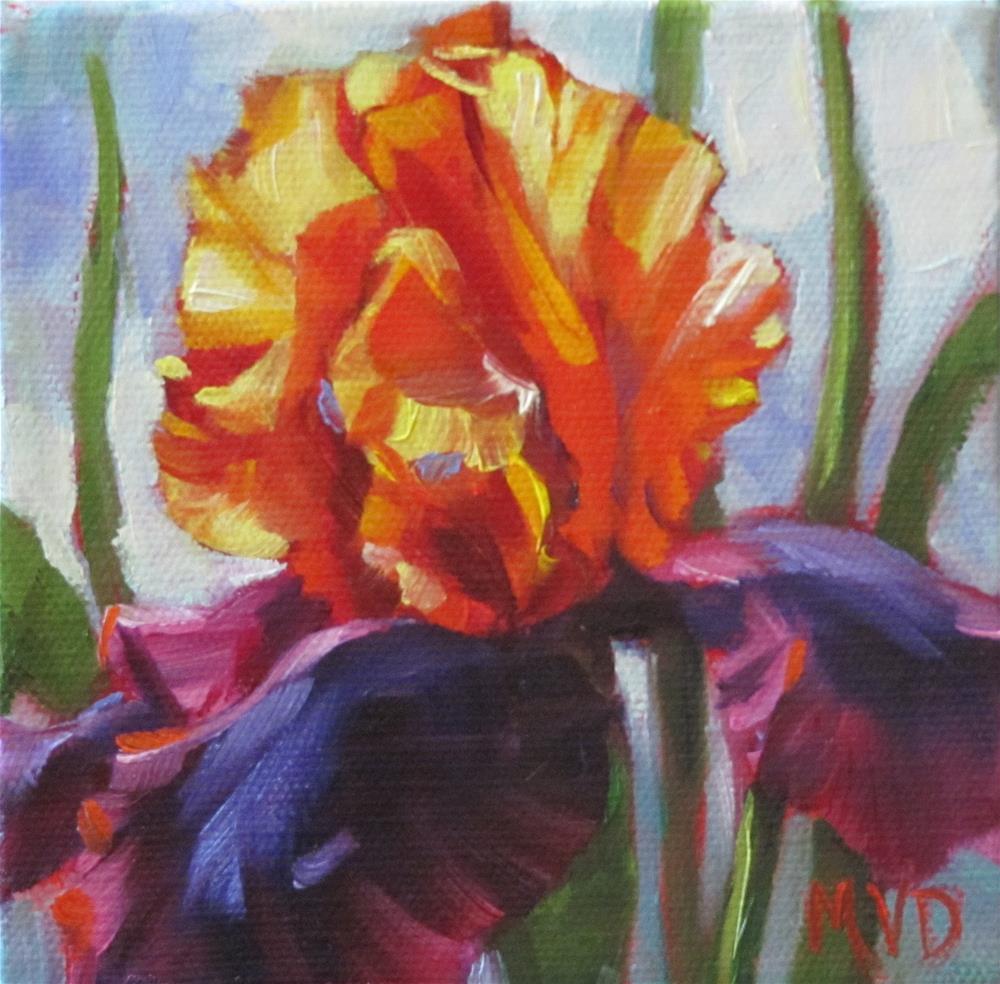 """Midnight & Gold II"" original fine art by Mary Van Deman"