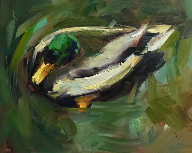 """""""Amazon Duck"""" original fine art by Patti McNutt"""