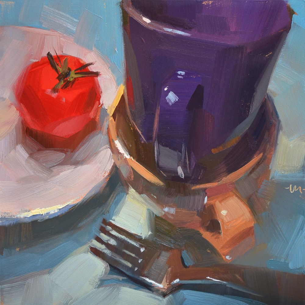 """Cups for Company"" original fine art by Carol Marine"