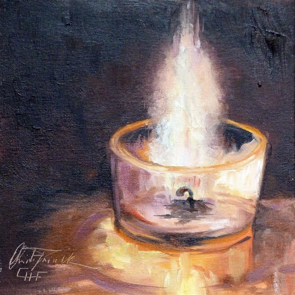 """""""Candlelight or what else can you see"""" original fine art by Christa Friedl"""