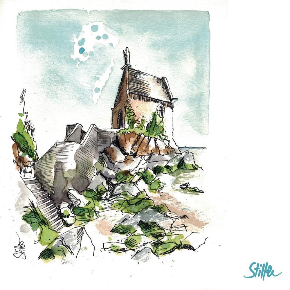 """3315 Mont Saint Michel"" original fine art by Dietmar Stiller"