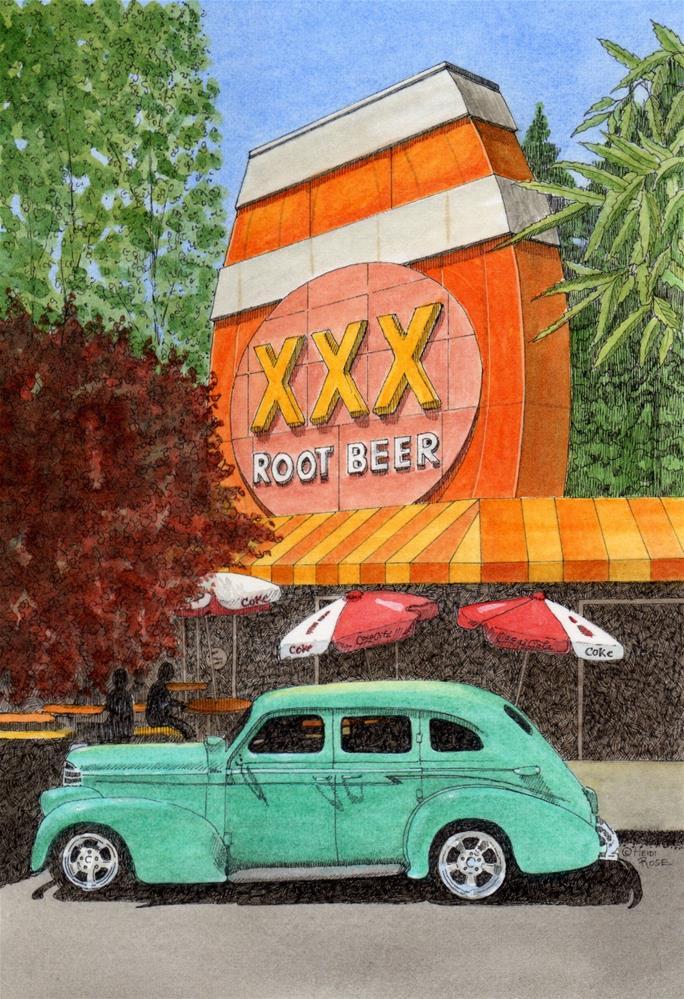 """""""Triple X Root Beer"""" original fine art by Heidi Rose"""
