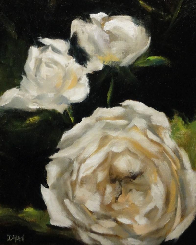 """White Roses"" original fine art by Dalan Wells"