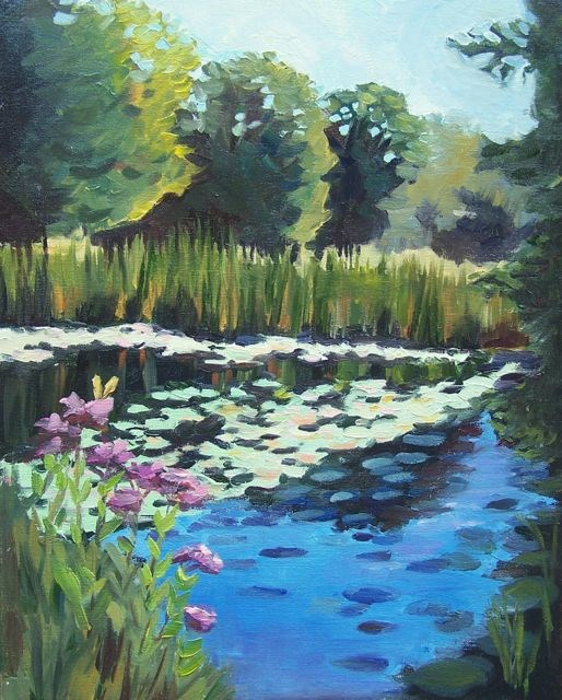 """Saturated in Stillness"" original fine art by Linda Marino"