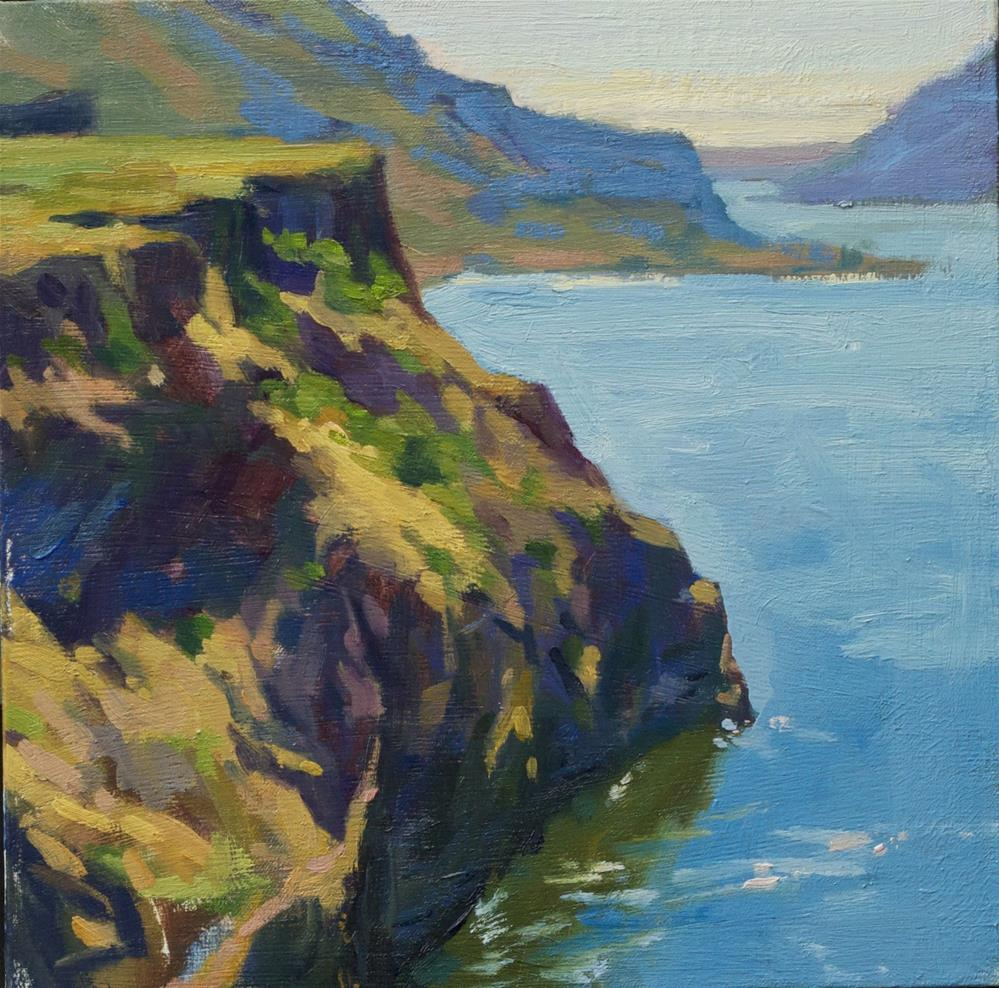 """ Columbia River"" original fine art by Emiliya Lane"