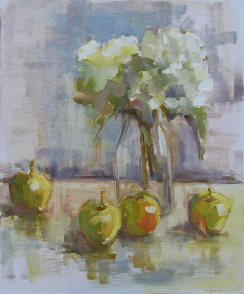 """something to talk about"" original fine art by Carol Carmichael"