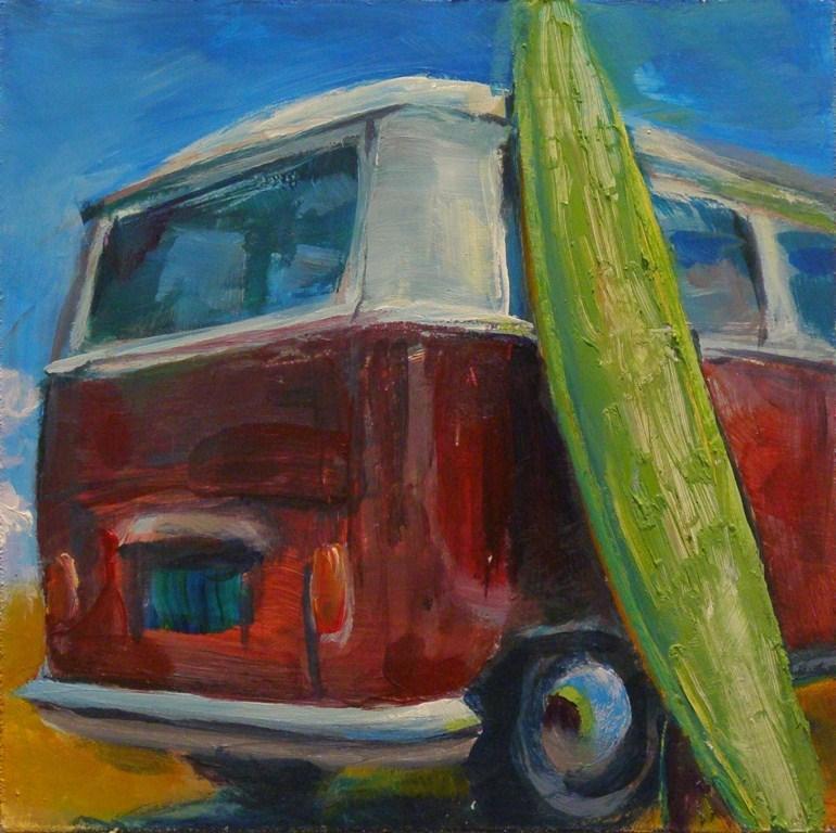 """LET'S GO SURFIN' NOW"" original fine art by Brian Cameron"
