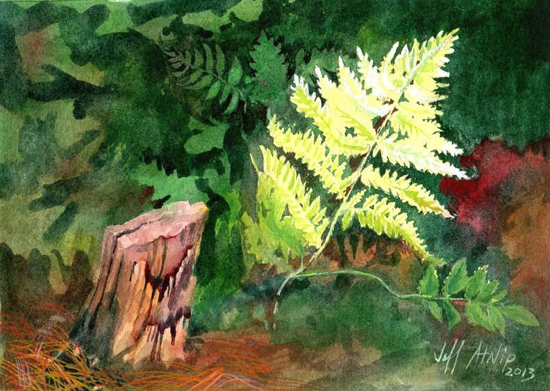 """Fern"" original fine art by Jeff Atnip"