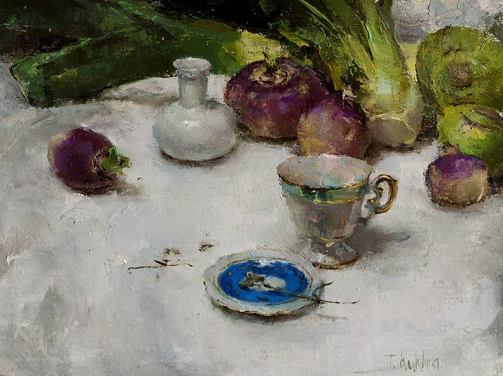"""Turnips"" original fine art by Taisia Kuklina"