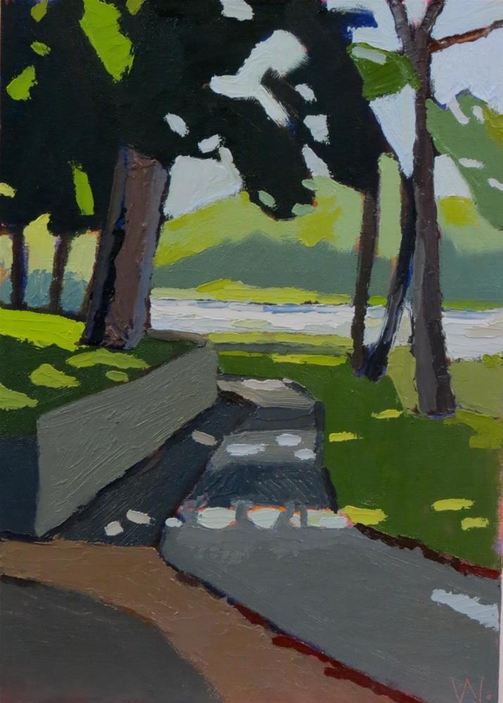 """The Road Home"" original fine art by Joan Wiberg"