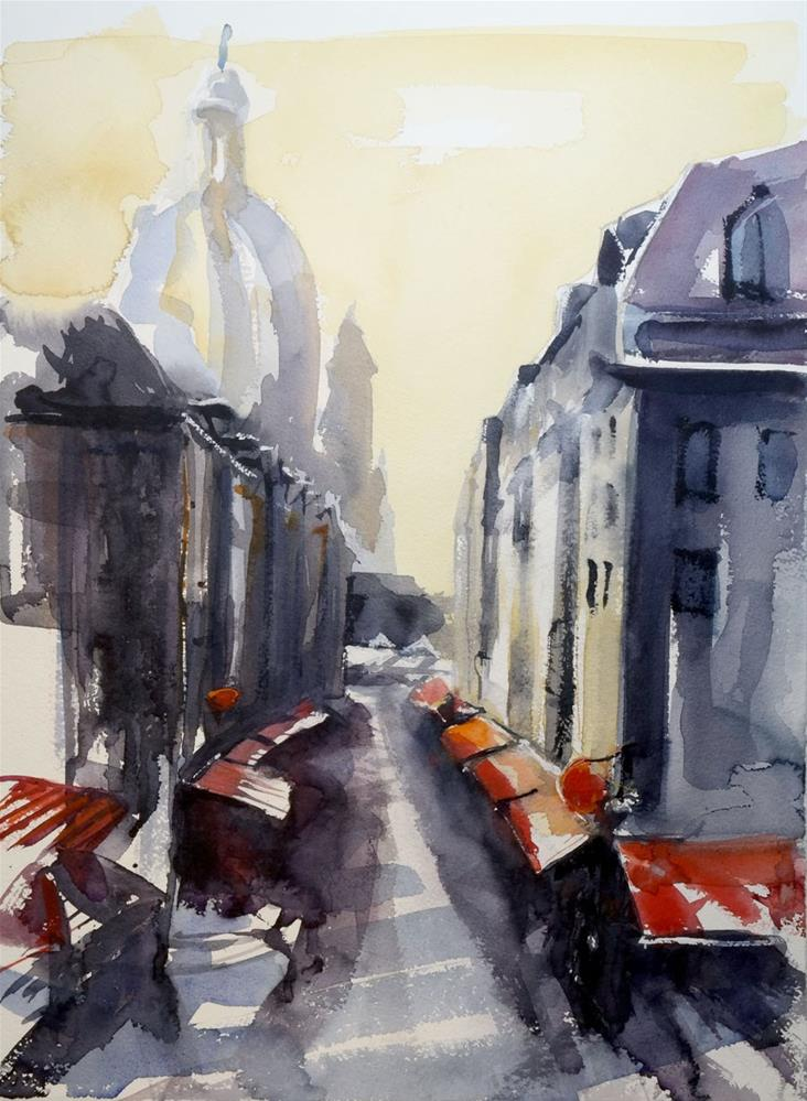 """1886 Frauenkirche Watercolor"" original fine art by Dietmar Stiller"