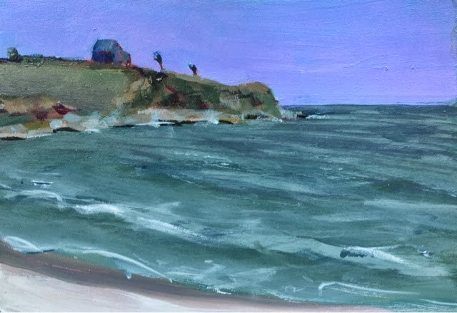 """Once Upon An Island, 5x7 inch acrylic painting by Kelley MacDonald"" original fine art by Kelley MacDonald"