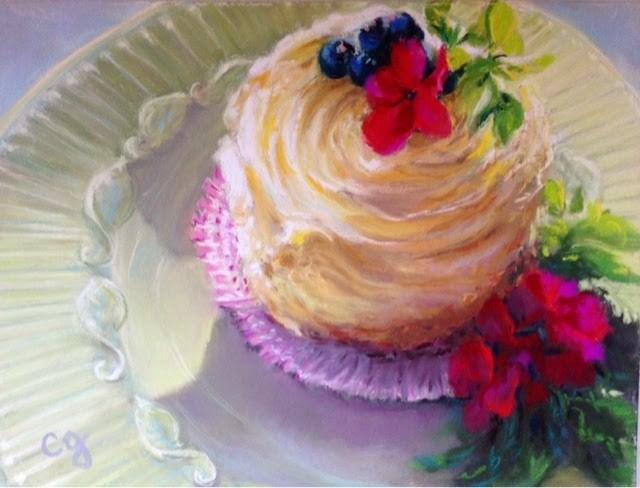 """""""Life's Short...Eat Dessert First!"""" original fine art by Cindy Gillett"""