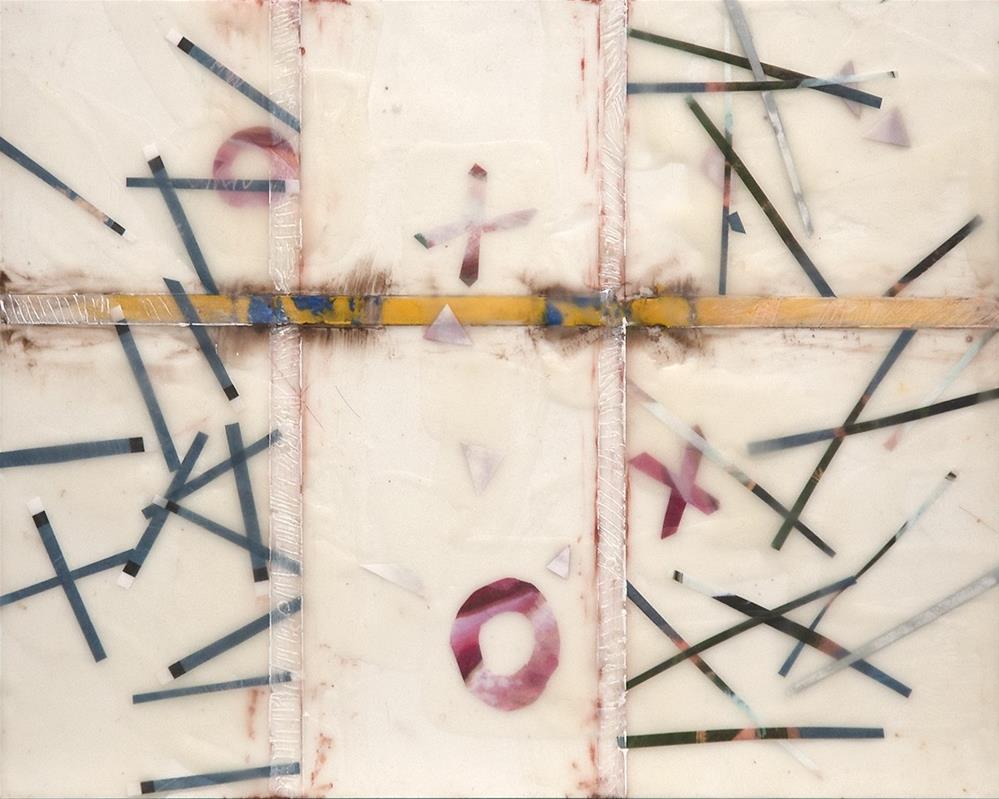 """Encaustic I"" original fine art by Miriam Hill"