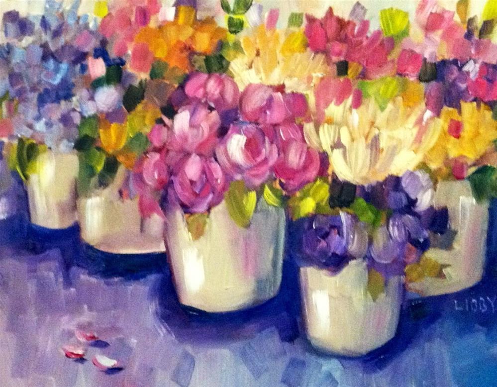 """Market Flowers"" original fine art by Libby Anderson"