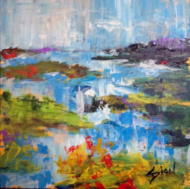 """""""Summer Shimmer"""" original fine art by Sue Dion"""