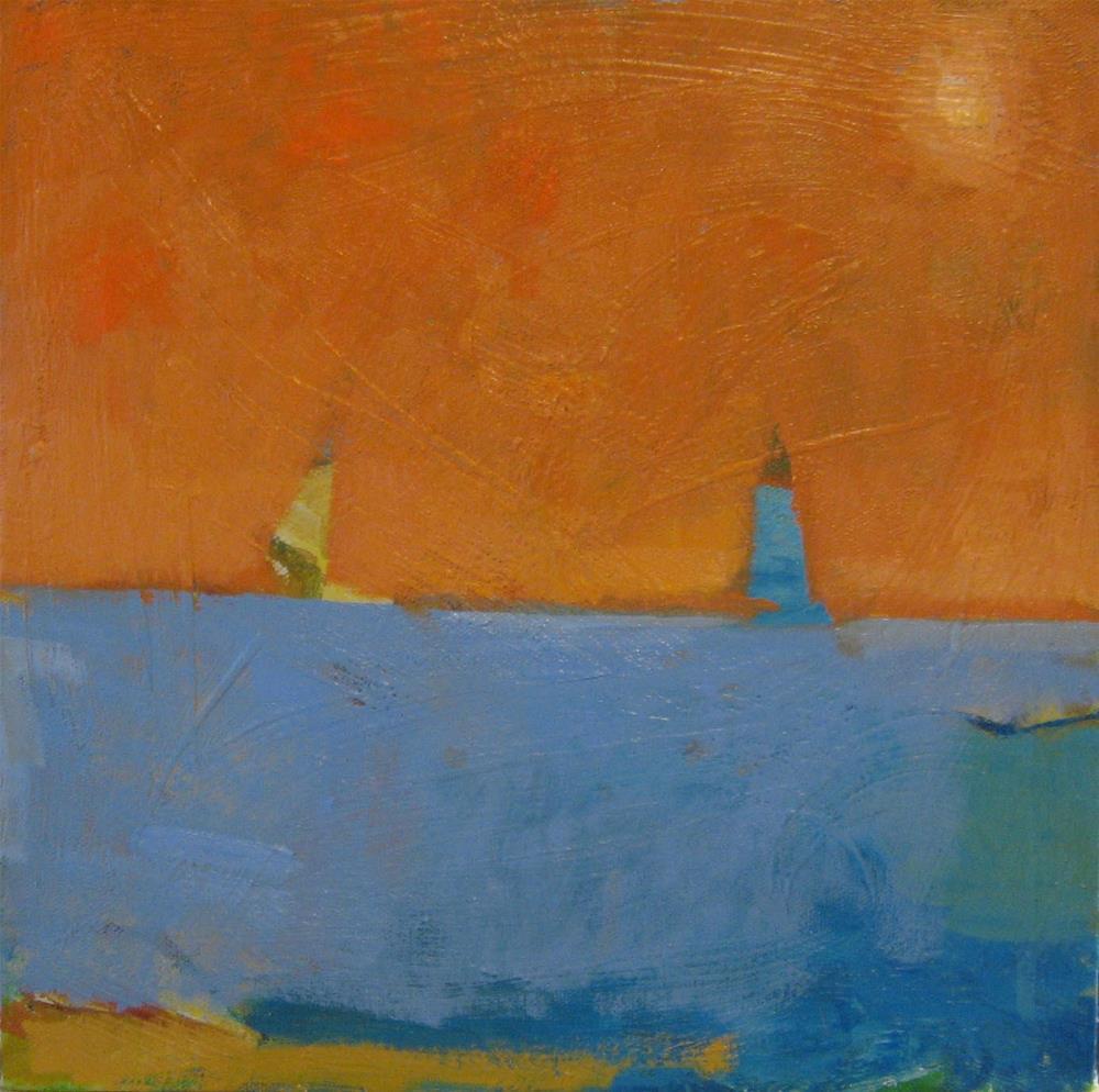 """Sailing Under the Melon Sky"" original fine art by Kristina Davidson"