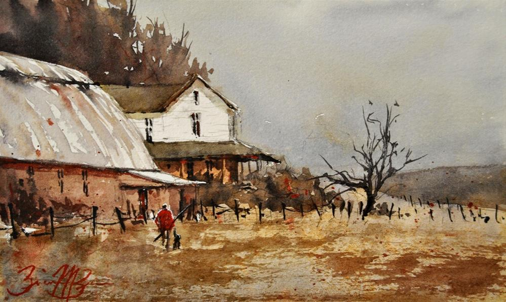 """Hunter's Home"" original fine art by Brienne M Brown"