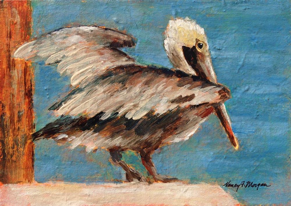 """""""Ready to Take the Plunge"""" original fine art by Nancy F. Morgan"""