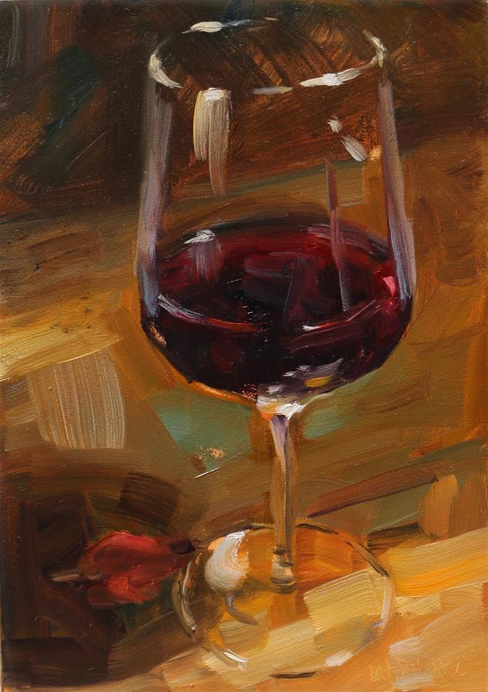 """Time for a wine"" original fine art by Miranda Dalessi"
