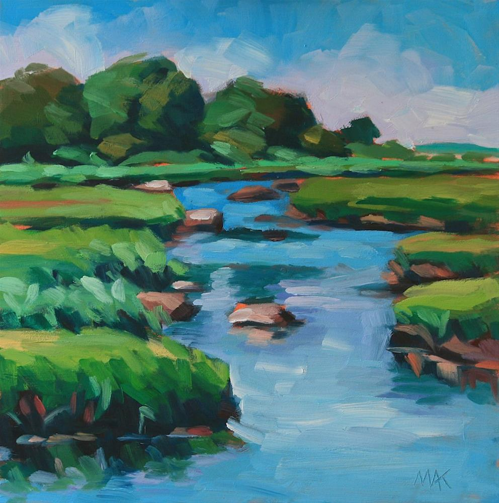 """Maine Marsh"" original fine art by Mary Anne Cary"
